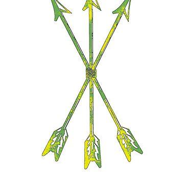 Arrows green-yellow, Scoia'tael, Scoiatael, arrows by Tanastish