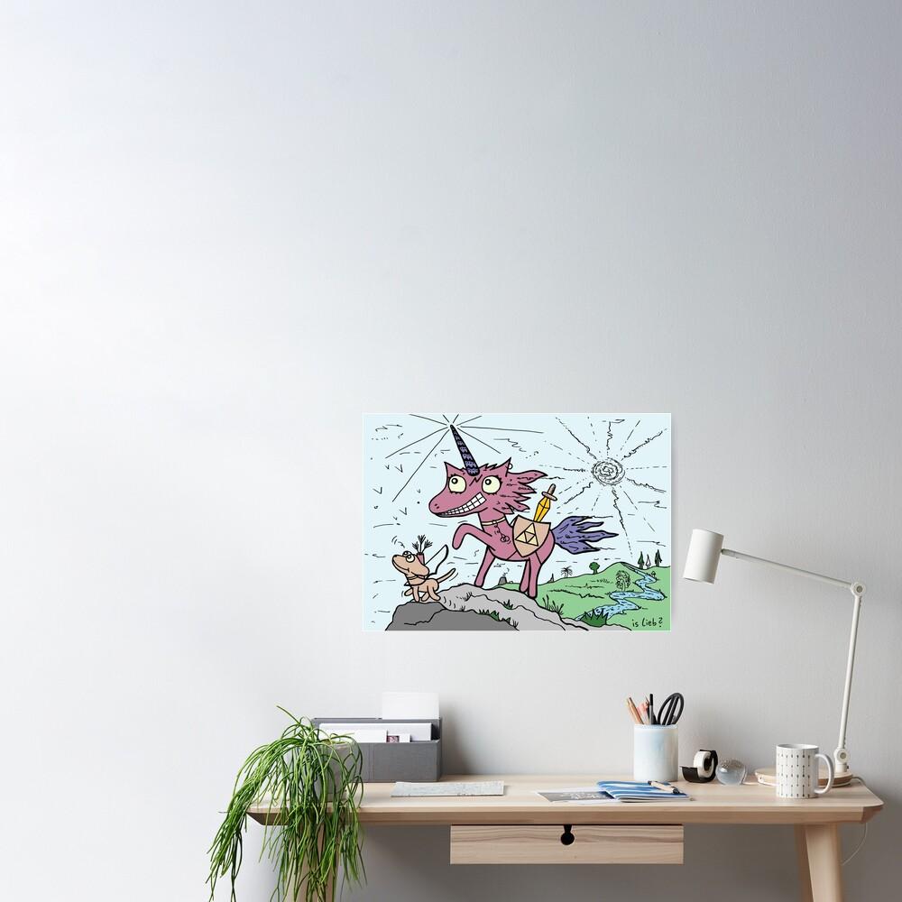 Einhorn mit Hund | islieb Poster