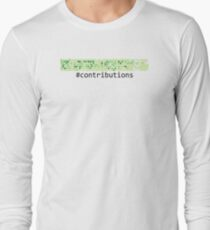 Github Logo: Contributions Long Sleeve T-Shirt