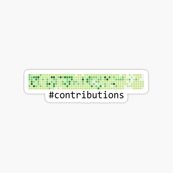 Github Logo: Contributions Sticker