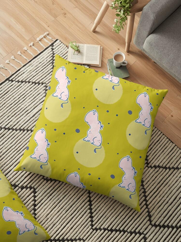 Nilpferd, Flusspferd - grün gemustert von Judith Ganter