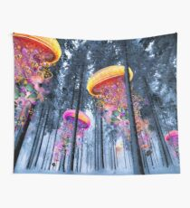 New Winter Forest of Electric Jellyfish Worlds  Wall Tapestry