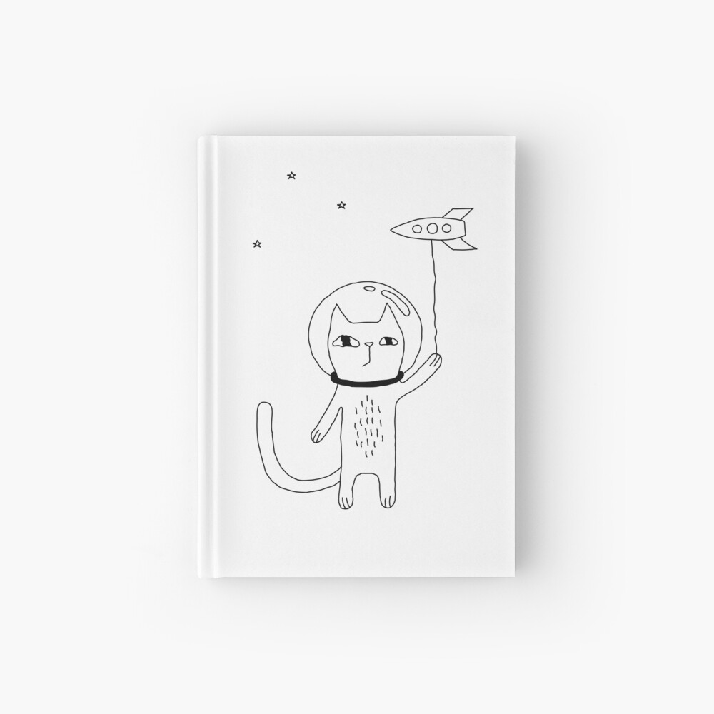 Space Cat Hardcover Journal