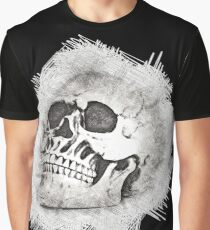 The Spooky Skull Sketch Graphic T-Shirt