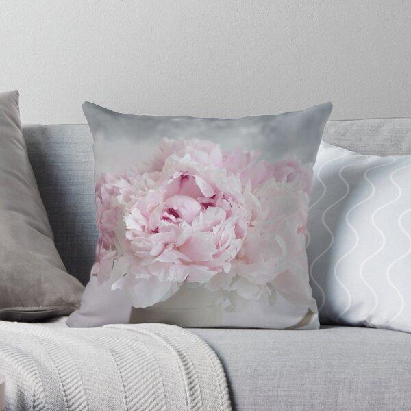 Peony Romance Throw Pillow