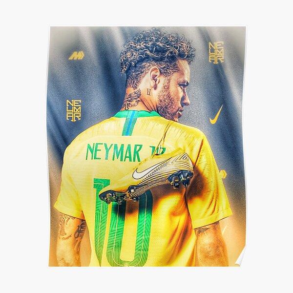 Neymar Golden Glow Poster