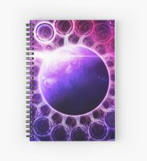 Deep Dream Fractal Mandala -- Deep Space Galaxy Dreamer Spiral Notebook