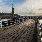 Whitby pier by Jon Tait