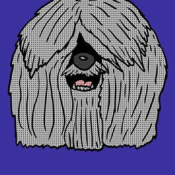 English Sheepdog Head by Rajee