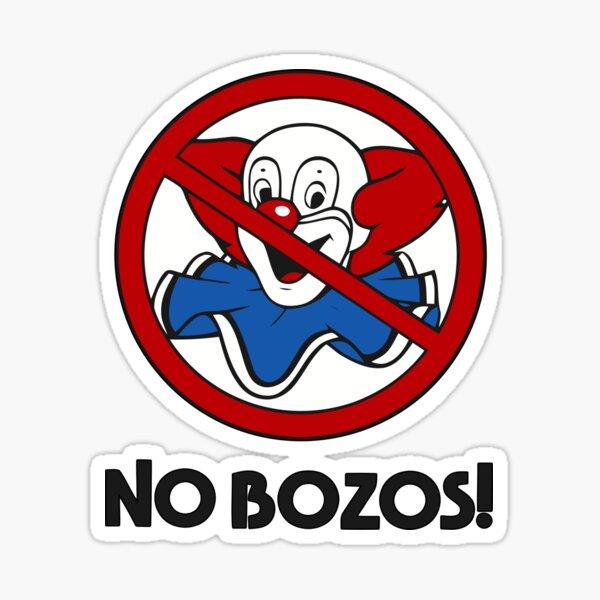 NO BOZOS Sticker