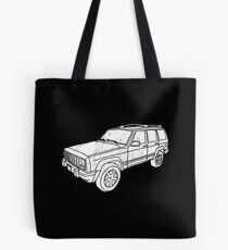 Jeep Cherokee - White Tote Bag