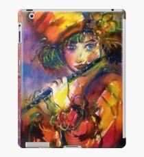 FLUTIST PORTRAIT / Venetian Masquerade Watercolor Collection iPad Case/Skin