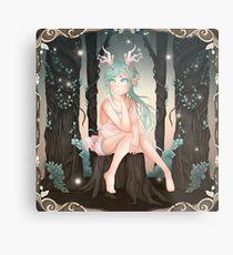 Reiko Forest Fauna - 2018 (Square) Metal Print