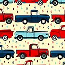 Winter Vintage Trucks  by TigaTiga