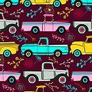 Floral Vintage Trucks  by TigaTiga