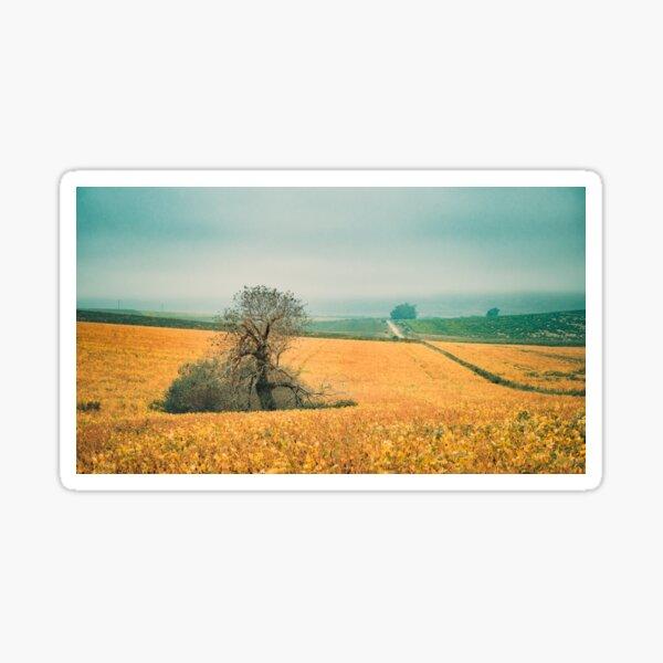 The field in autumn Sticker