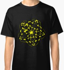 Abstract Yellow Flower Design Classic T-Shirt