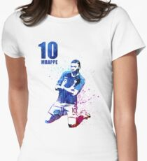 Mbappe art #france Women's Fitted T-Shirt