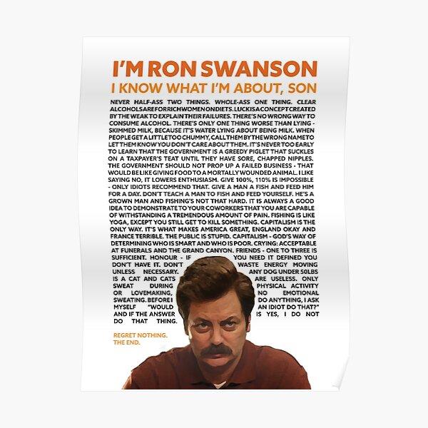Ron Swanson Quotes Design Poster