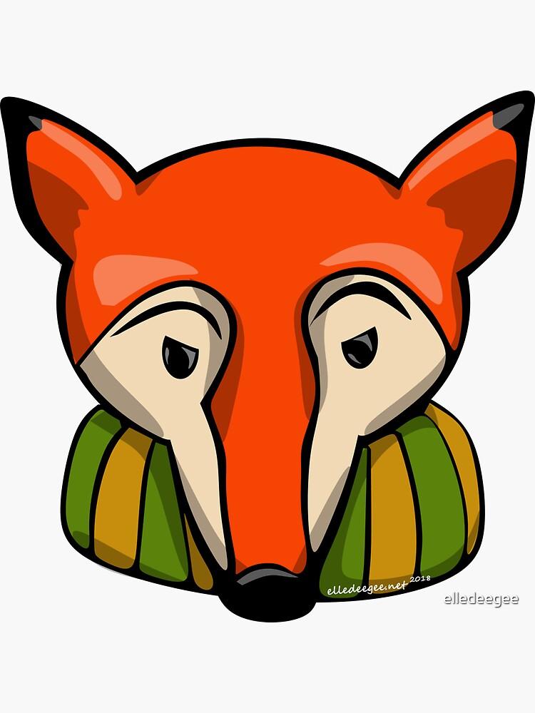 Thoughtful Fox by elledeegee