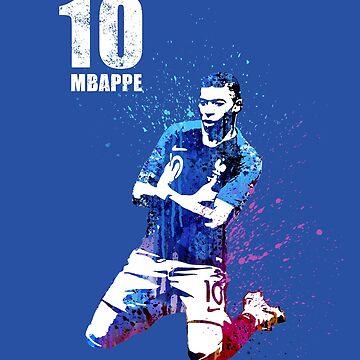 world cup art 2018 #on blue #france by artpopop