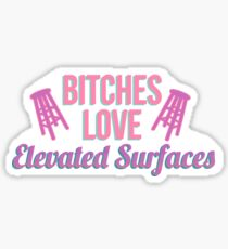 elevated surfaces Sticker