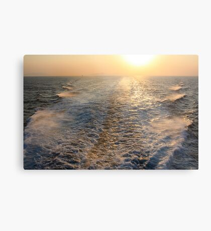 "Sailing into (or is it ""out of"" in this case?) the Sunset Metal Print"