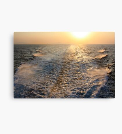 """Sailing into (or is it """"out of"""" in this case?) the Sunset Canvas Print"""