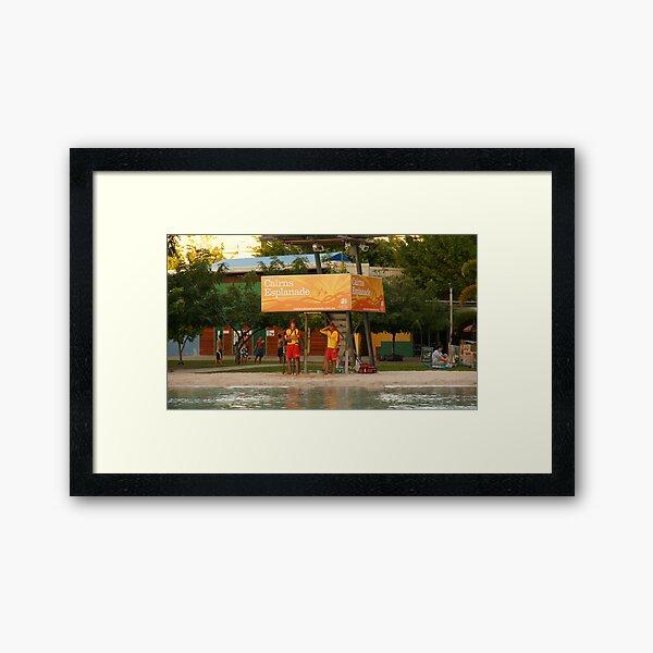 Cairns Lagoon Lifesavers Framed Art Print