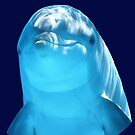 Cute Dolphin Marine Animal in Blue Sea by YLArt