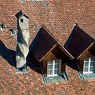 twisted chimney on a rooftop by mamba