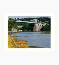 Bridge over the strait Art Print