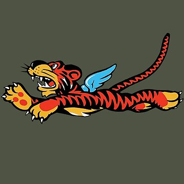 Flying Tigers Emblem by warbirdwear