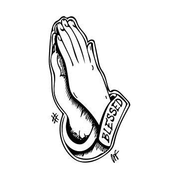 PRAYER HANDS BLESSED HAND DRAWN by Eventures1