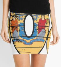 LOVE THAT  908 LIFE - YOUR FAVORITE AREA CODE WITH A HEAVY WOOD OVERLAY DISTRESS Mini Skirt