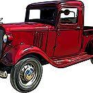 Old Red Truck 1930's by RetroArtFactory