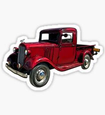 Old Red Truck 1930's Sticker