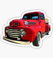 Red Truck from the 1940's Sticker