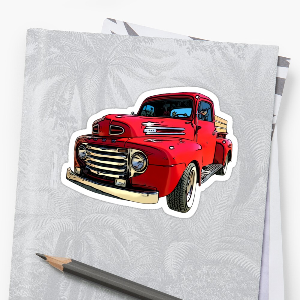 Red Truck from the 1940's Stickers