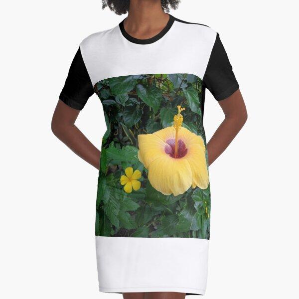 gumamela flower Graphic T-Shirt Dress