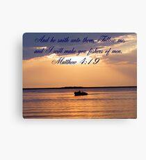 Matthew 4:19 Canvas Print