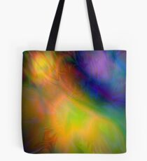 Yellow Northern Lights Pattern  Tote Bag