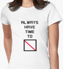 Time to Spare Women's Fitted T-Shirt