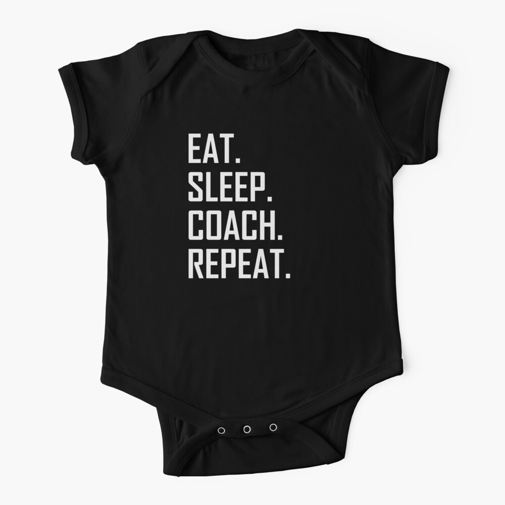 Eat Sleep Basketball Repeat Cotton Short Sleeve T Shirts for Baby Toddler Infant