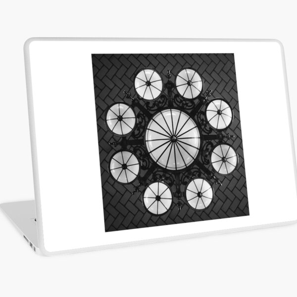 Ellis Island Chandelier in the Registry Hall Laptop Skin