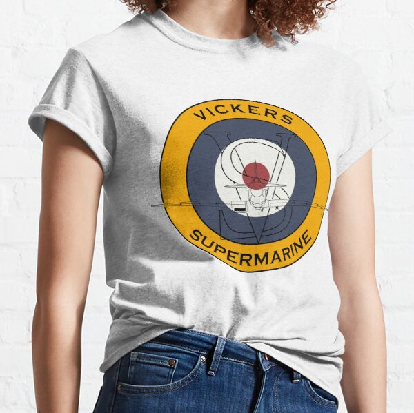 Spitfire Supermarine Vickers Roundel Classic T-Shirt