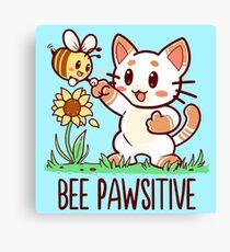 Bee Pawsitive Canvas Print