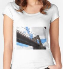 Brooklyn Bridge from DUMBO Women's Fitted Scoop T-Shirt