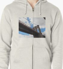 Brooklyn Bridge from DUMBO Zipped Hoodie