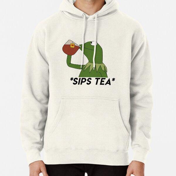 sips tea Pullover Hoodie
